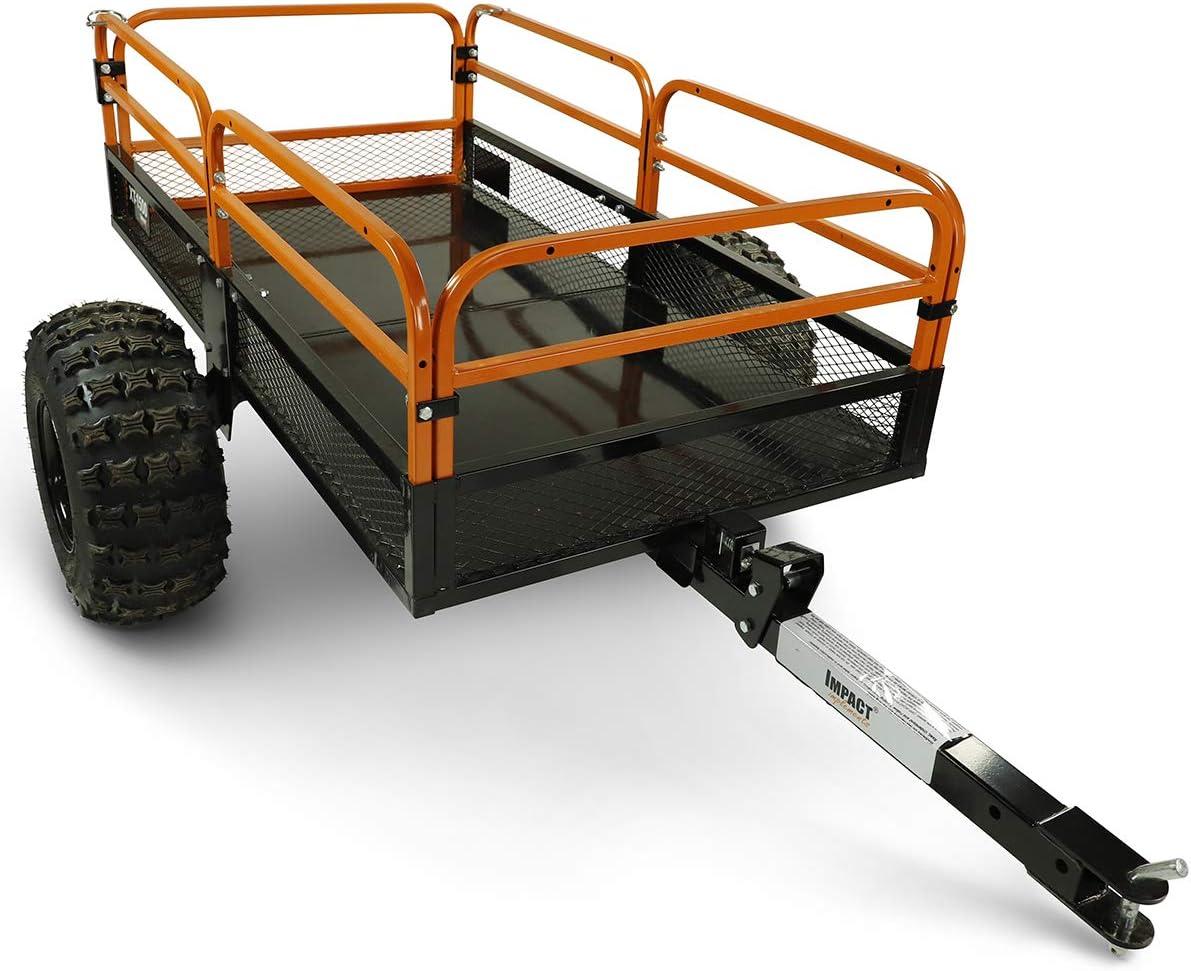 Amazon Com Motoalliance Impact Atv Utv Heavy Duty Utility Cart Cargo Trailer 1500lb Capacity 15 Cu Ft Automotive