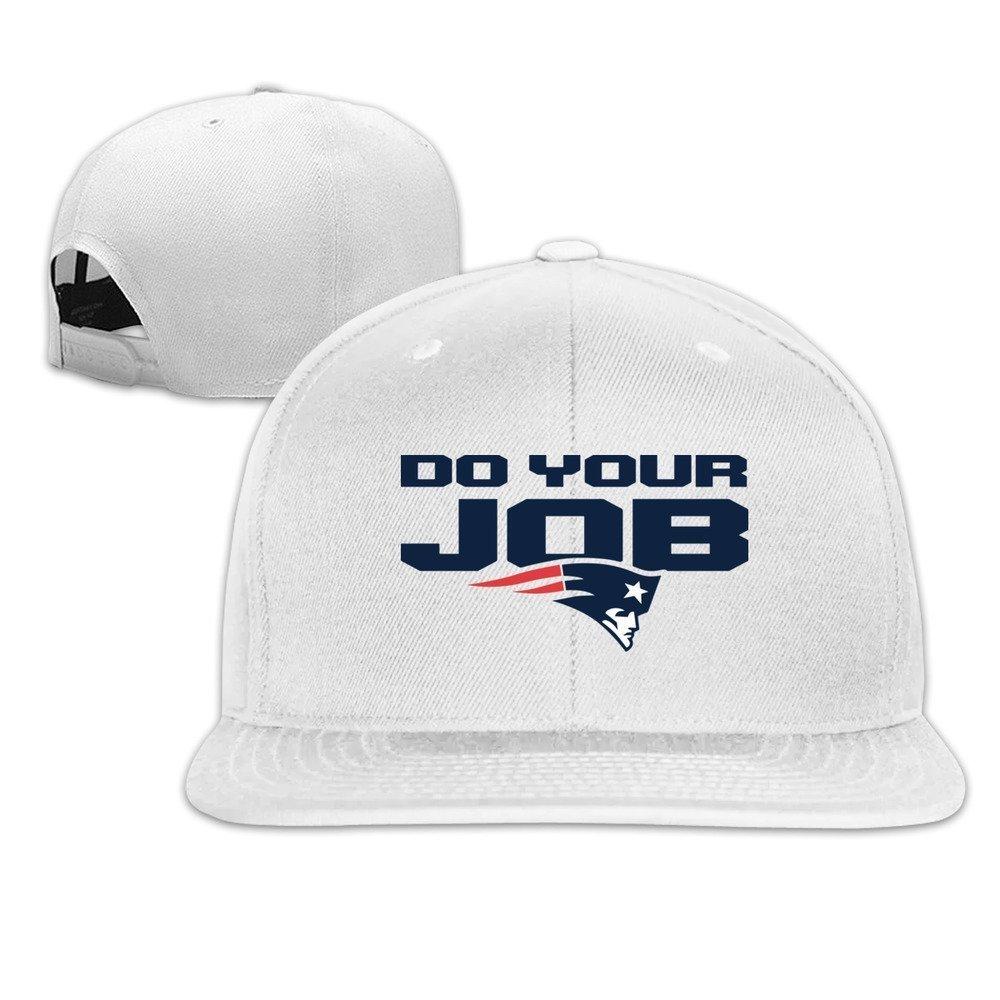 HmkoLo Do Your Job Cotton Flat Bill Baseball Cap Snapback Hat Unisex