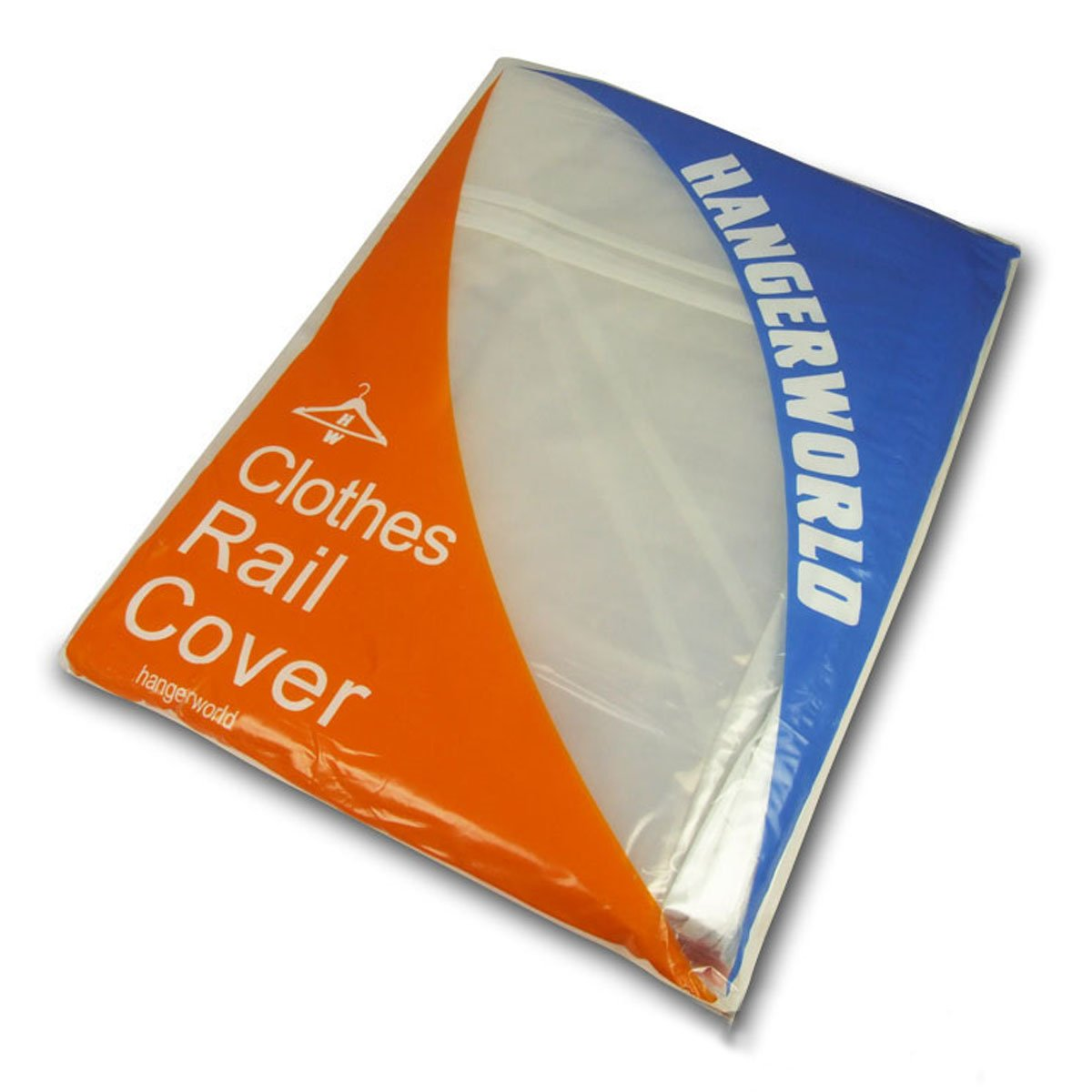 Hangerworld 6 ft Transparent Clothes Rail Cover Garment Coat Hanger Protector Storage