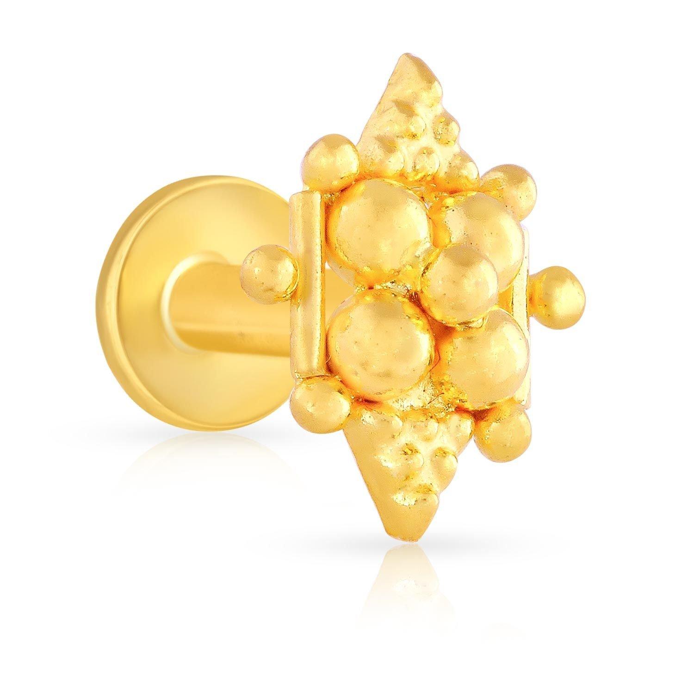 Buy Malabar Gold Diamonds 22k 916 Yellow Gold Nose Ring At