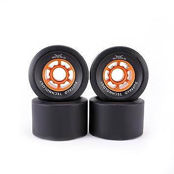 Ruedas de hule Buffalo Skateboard Rubber - PU 83mm negro para longboard (paquete de 4): Amazon.es: Deportes y aire libre