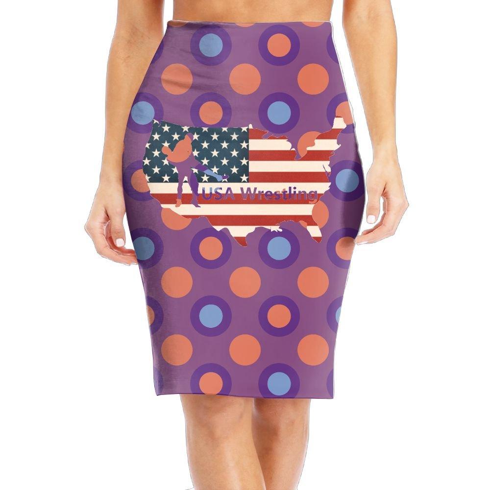 CVC Skirts USA Wrestling Lady Slim The Knee Length Skirt