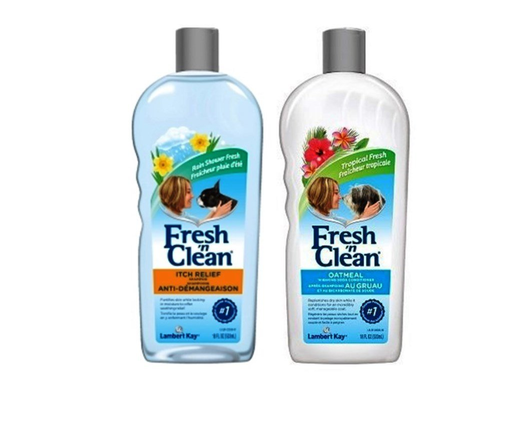 Fresh 'N Clean Itch Relief Shampoo and Conditioner Bundle: (1) Fresh 'N Clean Itch Relief Shampoo, and (1) Fresh 'N Clean Oatmeal Baking Soda Conditioner