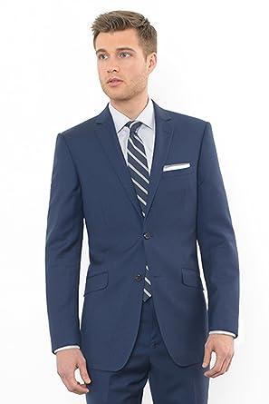 460b9529b09bc0 Combatant Gentlemen Men's Blue Slim Fit Suit 34 Regular Blue at ...