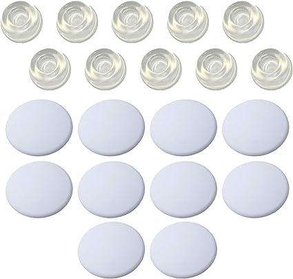 autoadesivi resistenti Sanggi trasparenti set da 4 pezzi Fermaporta autoadesivi per la protezione di pareti e mobili