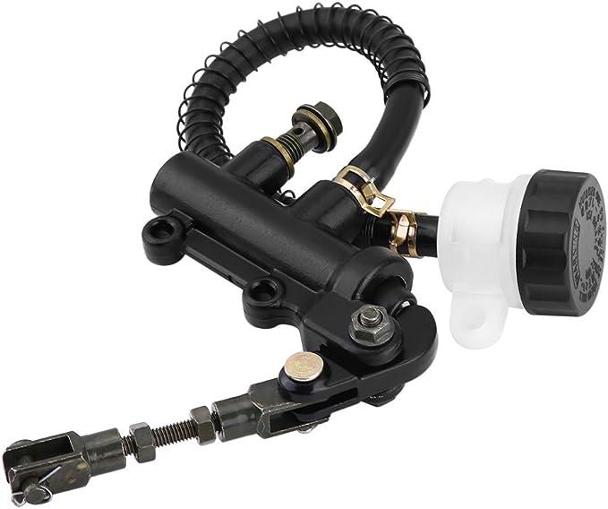 Fußbremspumpe Hinten Klappbare Fußbremse Hinten Hydraulischer Hauptbremszylinder Pumpenbehälter Für Motorrad Atv Dirt Bike Auto