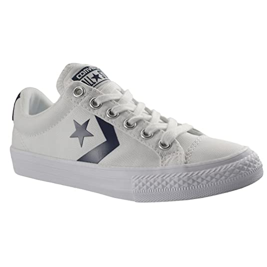 Amazon.com | Converse Youth Star Player White Canvas Trainers 6 US | Sneakers