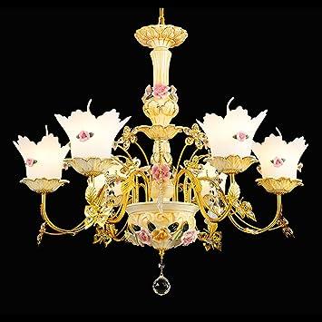 NAUY Lámpara de cristal europea simple estilo pastoral ...