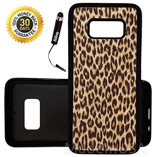 Custom Galaxy S8 Case (Cheetah Print) Edge-to-Edge Rubber Black Cover Ultra Slim | Lightweight | by Innosub