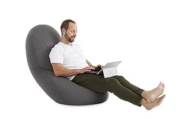 textil-home Puf - pera moldeable XL Puff - 80x80x130 cm ...
