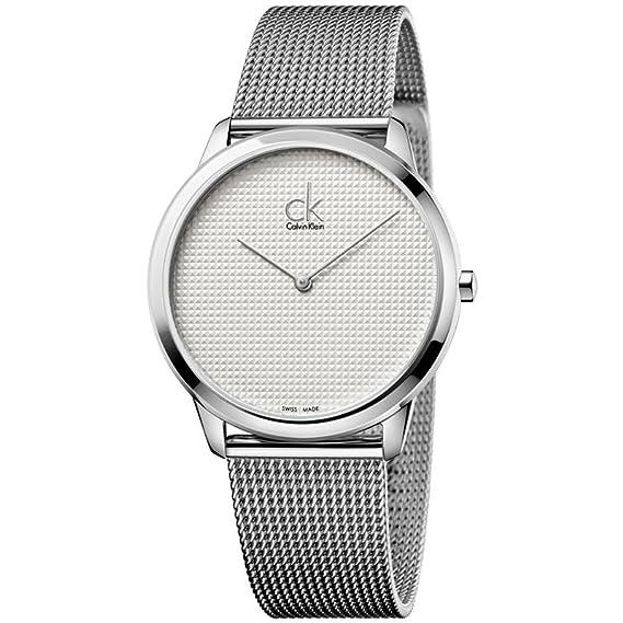 Calvin Klein Gris de hombre Minimal Swiss reloj de pulsera de malla de  acero inoxidable 40 mm k3 m2112y  Amazon.es  Relojes 514343931602