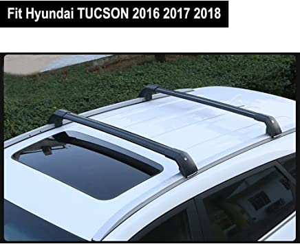 Fit for Hyundai New Kona 2018 2019 Lockable Baggage Luggage Racks Roof Racks Rail Cross Bar Crossbar Silver