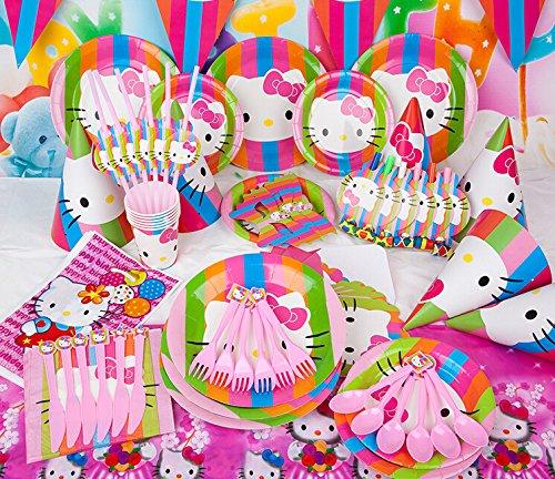 Suministros para fiestas de Hello Kitty, para cumpleaños ...