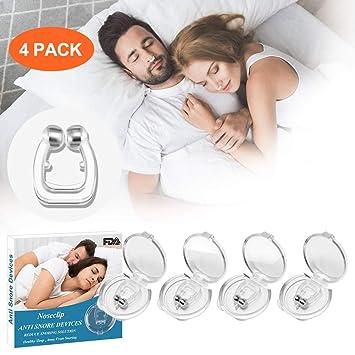 Clip Nasal Antironquidos Para Dormir, 4 Piezas Antironquidos Nasal ...