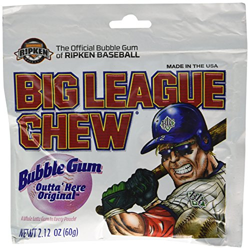 The Official Big League Chew Original Bubble Gum + Tray (12 Packs) -