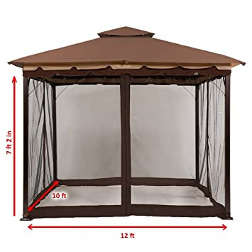 MasterCanopy 10u0027 x 12u0027 Mosquito Netting Screen walls for 10u0027x 10u0027  sc 1 st  Amazon.com & Amazon.com : MasterCanopy 10u0027 x 12u0027 Mosquito Netting Screen walls ...