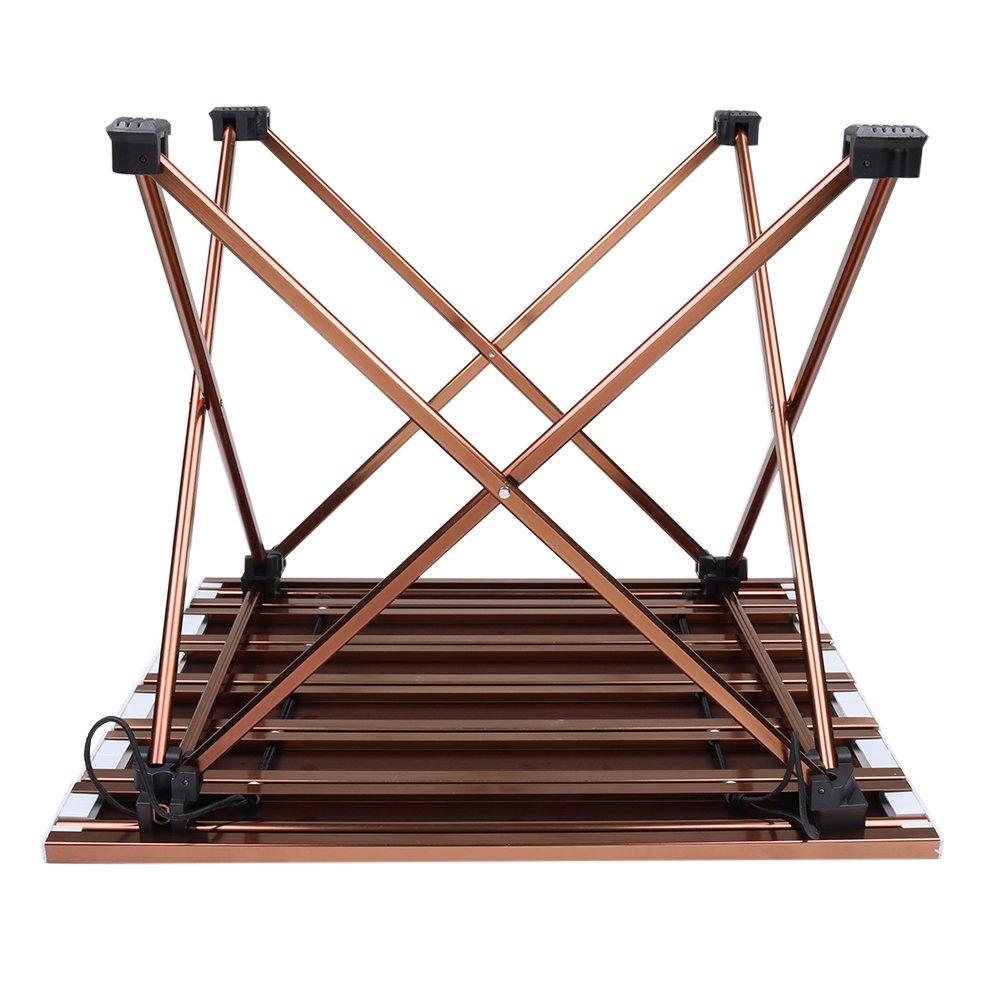 Ultraligero portátil Camping mesa plegable de cuadros con ...