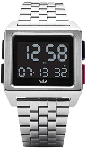 0a3f963c45edc Adidas Men's Digital Watch with Stainless Steel Strap Z01-2924-00
