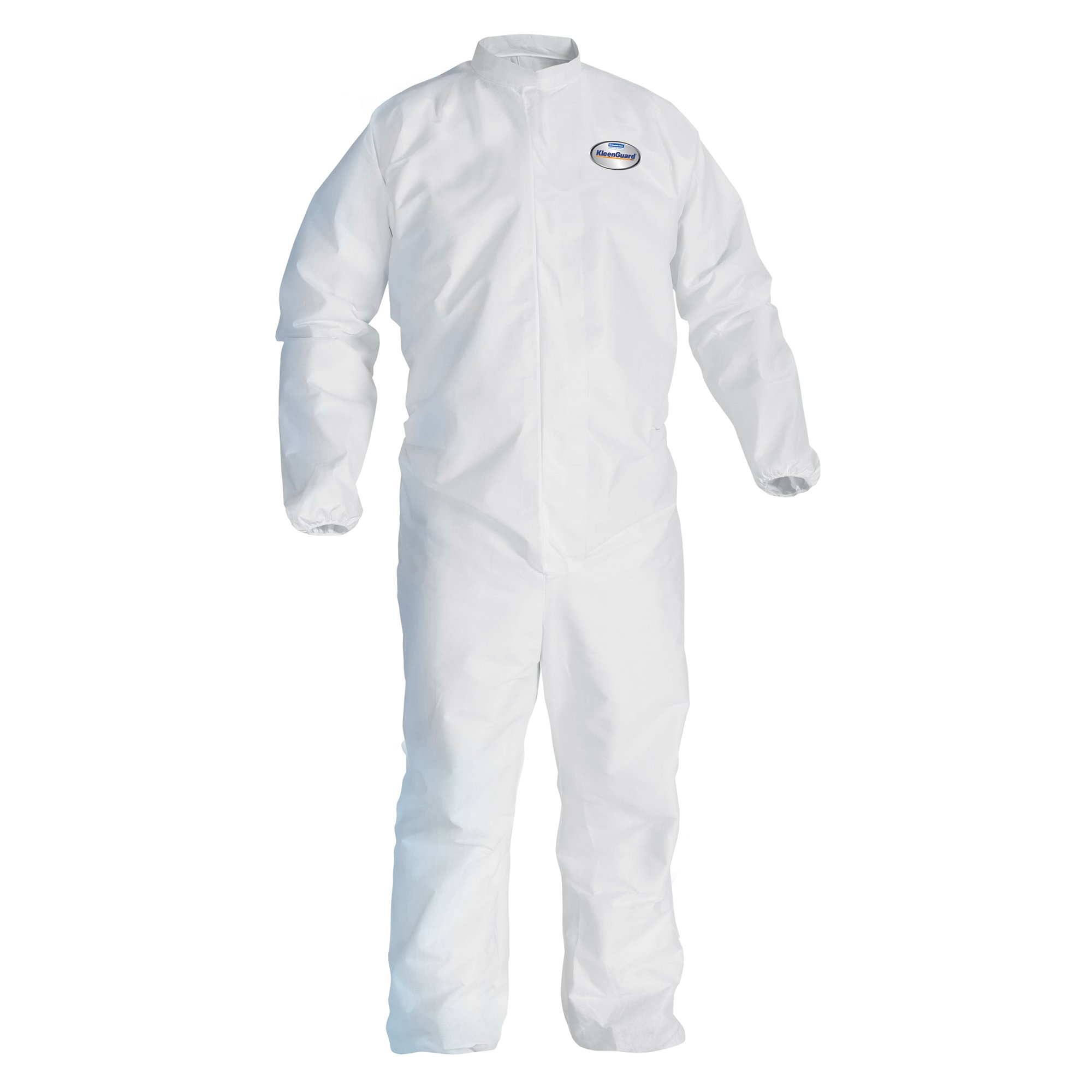 Kleenguard A30 Breathable Splash and Particle Protection Coveralls  (46104), REFLEX Design, Zip Front, Elastic Wrists & Ankles, White, XL, 25 / Case