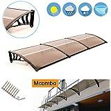 "MCombo 40""×120"" Window Awning Outdoor Polycarbonate Front Door Patio Cover Garden Canopy 6055-4012 (Dark Brown)"