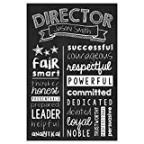 Director Chalkboard Wall Art –Director Graduate Gift – Director Appreciation Personalized Poster