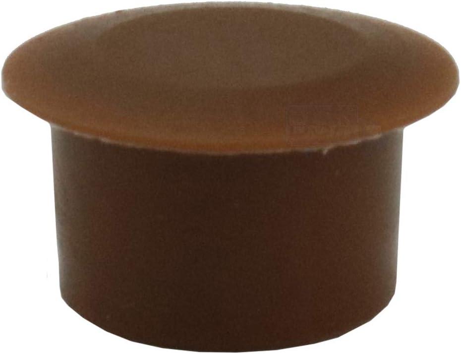 10/Tapones cubre-orificio 8/mm Irox Marr/ón pl/ástico cabeza 13/mm Converse