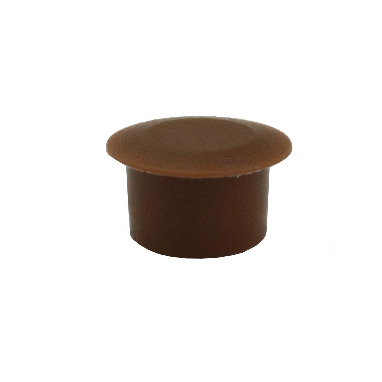 10/Bouchons Cache-trou 12/mm IROX Marron plastique t/ête 15/mm bouchon cache trou