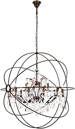 Elegant Lighting Geneva Collection 18-Light Pendant Lamp