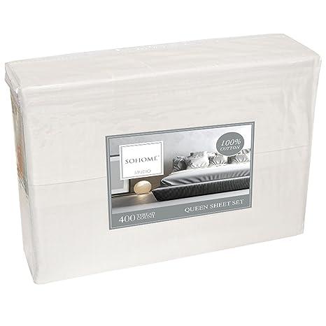 sohome linge de lit Sohome Studio 6pièce de lit T400 King: Amazon.fr: Cuisine & Maison sohome linge de lit