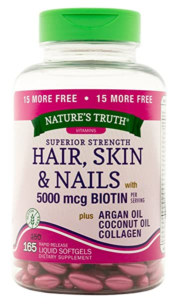 Amazon.com: Nature\'s Truth Superior Strength Hair/Skin/Nails with ...