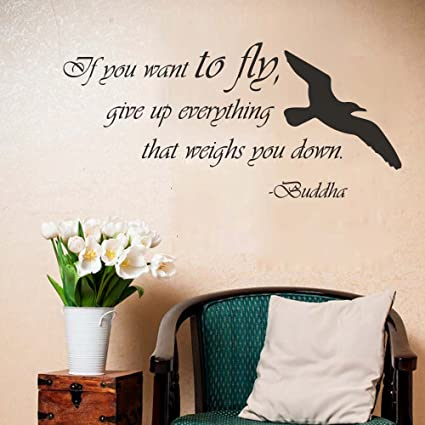 Amazon BATTOO Wall Decals Quotes Birds Buddha If You Want To Stunning Quotes About Birds