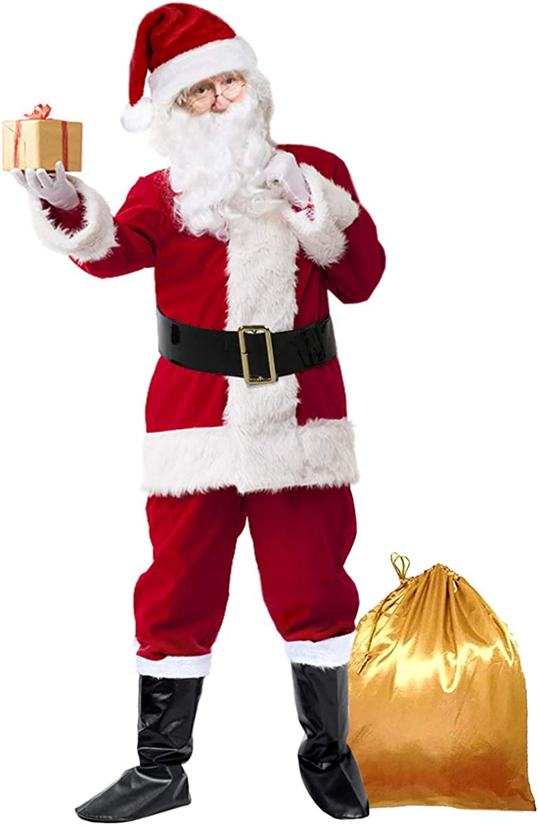 Christmas Santa Claus Costumes Christmas Santa Fancy Suits Costumes Party Cosplay Outfits
