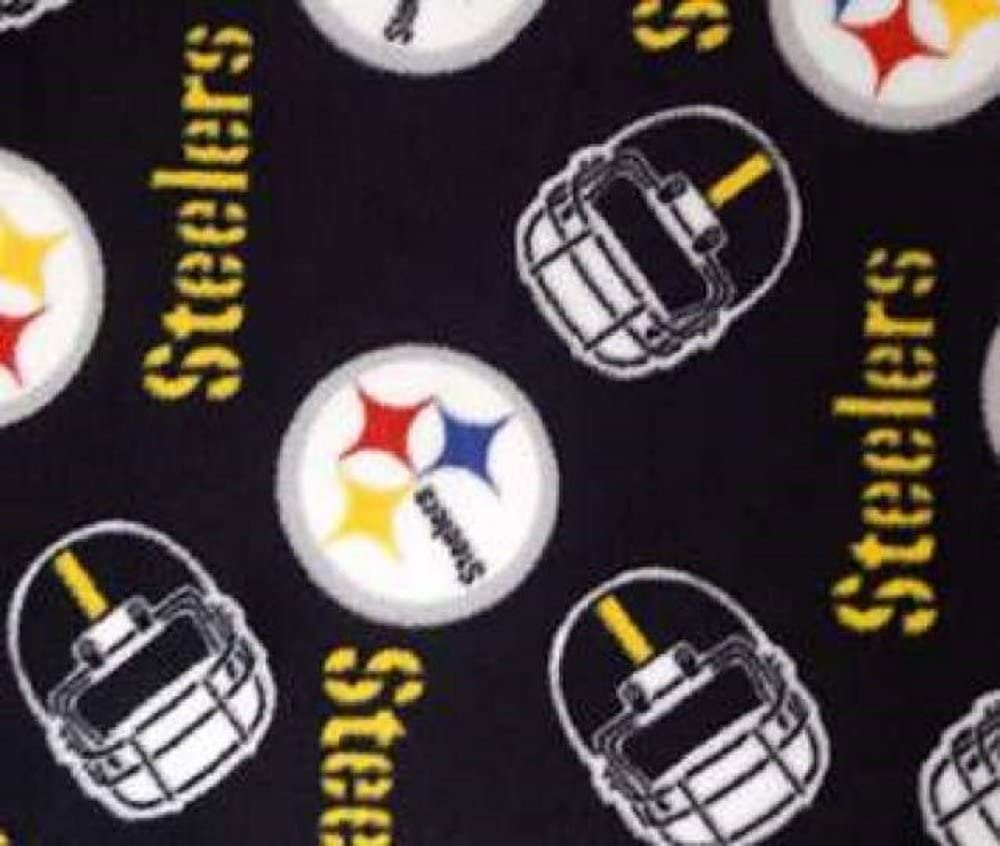 FANMATS 18564 NFL Pittsburgh Steelers Black Universal 15 Diameter Embroidered Steering Wheel Cover