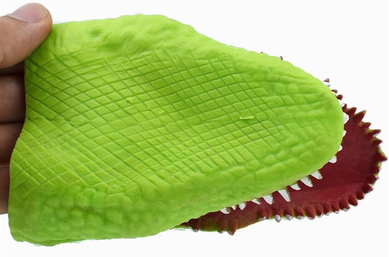 Verde Claro Genven Regalo de cumplea/ños Ideal Juguete Infantil para ni/ños de Marionetas de Mano de cocodrilo