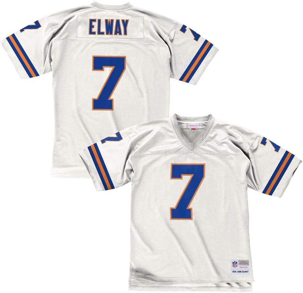 white broncos jersey
