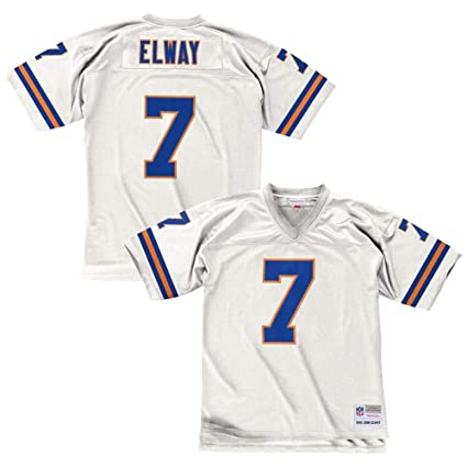 a592277b Mitchell & Ness John Elway Denver Broncos White Throwback Jersey ...