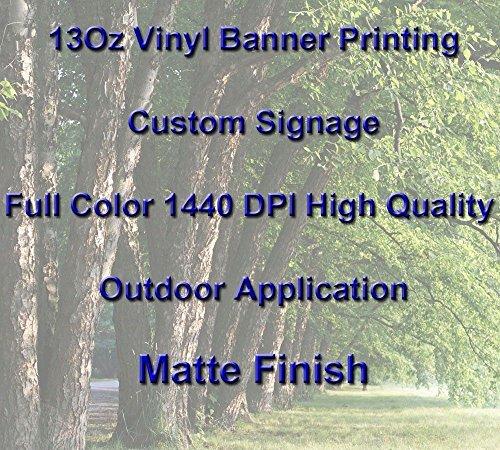 13Oz Full Color Custom Signage Vinyl Banner Printing, Matte Finish