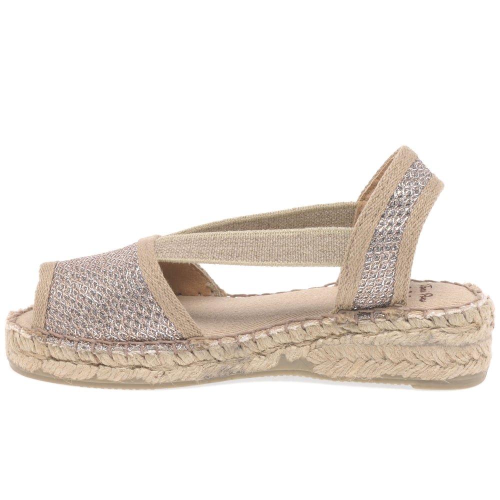 Toni Pons Chicas De Eli, Una Alpargata Sandalias Junior 1.5/34 Platinum Suede: Amazon.es: Zapatos y complementos