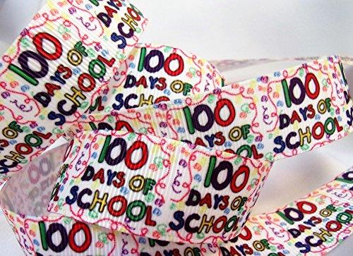 Grosgrain Ribbon - 100 Days of School Print