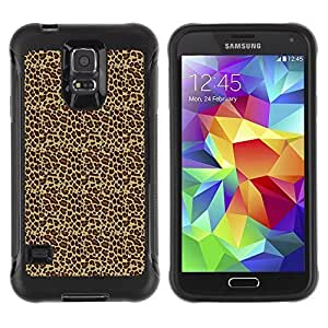 Travers-Diy FlareStar Colour Printing leopard print Heavy Duty Armor Shockproof Cover Rugged case SIxHLgeuFhk cover for Samsung Galaxy S5
