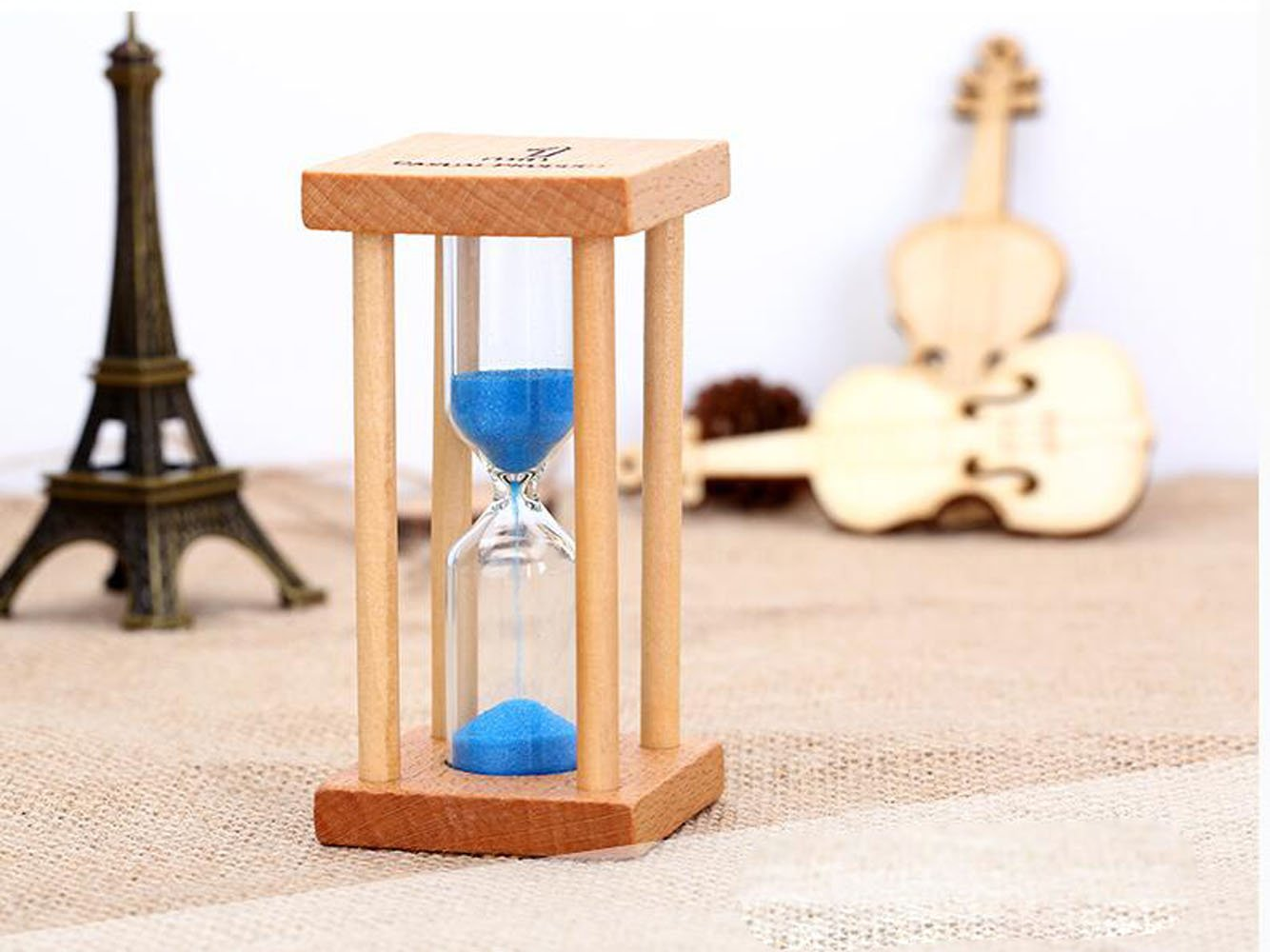 1/3/5 Minutes Kitchen Egg and Tea Tooth Brushing Sand Timer Colorful Sand Glass Hourglass Sand Clock Timer (1 Min:Blue )
