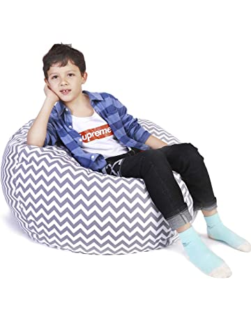 Lukeight Toy Organization Storage Bag Large Stuffed Animal Storage Bean Bag  Chair cc97ba477b028