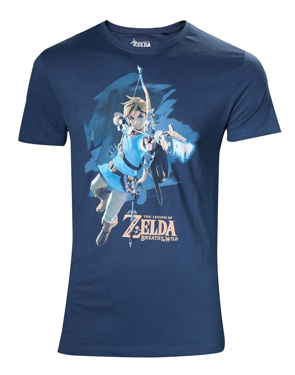 Zelda Breath of The Wild T Shirt Link with Bow Box Cover Officiel Homme Nouveau