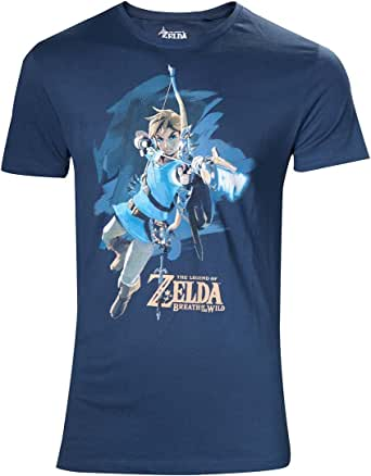 Flashpoint AG Legend Zelda Breath of The Wild Link Bow Camiseta, Multicolor (Multicolor 001), XXX-Large (Tamaño del Fabricante:L) para Hombre