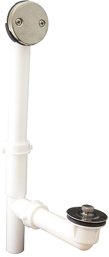 PlumBest P3750NPG Tubular Lift and Turn Bath Waste Kit Pearl Nickel