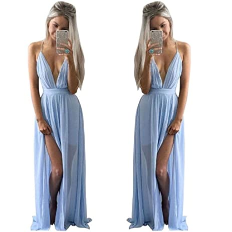 Women Dress,Haoricu Hot Sale!2017 Sexy V-Neck Women Summer Chiffon Sleeveless