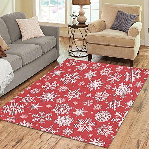 Amazon.com: InterestPrint Home Decoration Christmas Red White ...