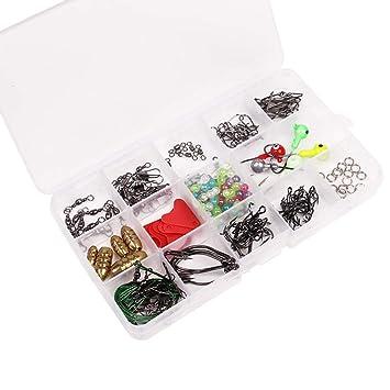 Wirbel Angelzubehör Bullet Tackle Box Set Kits Kunststoff 17.2x10x2.3cm