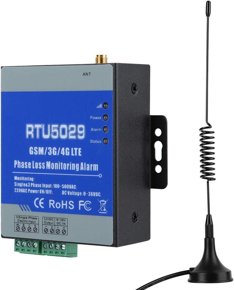 Alarma de fallo de alimentación, Alarma de monitorización remota de Voltaje gsm Actual con Alarma por SMS y Control Remoto inalámbrico para Estaciones, almacenes de Alimentos Frescos(EU)