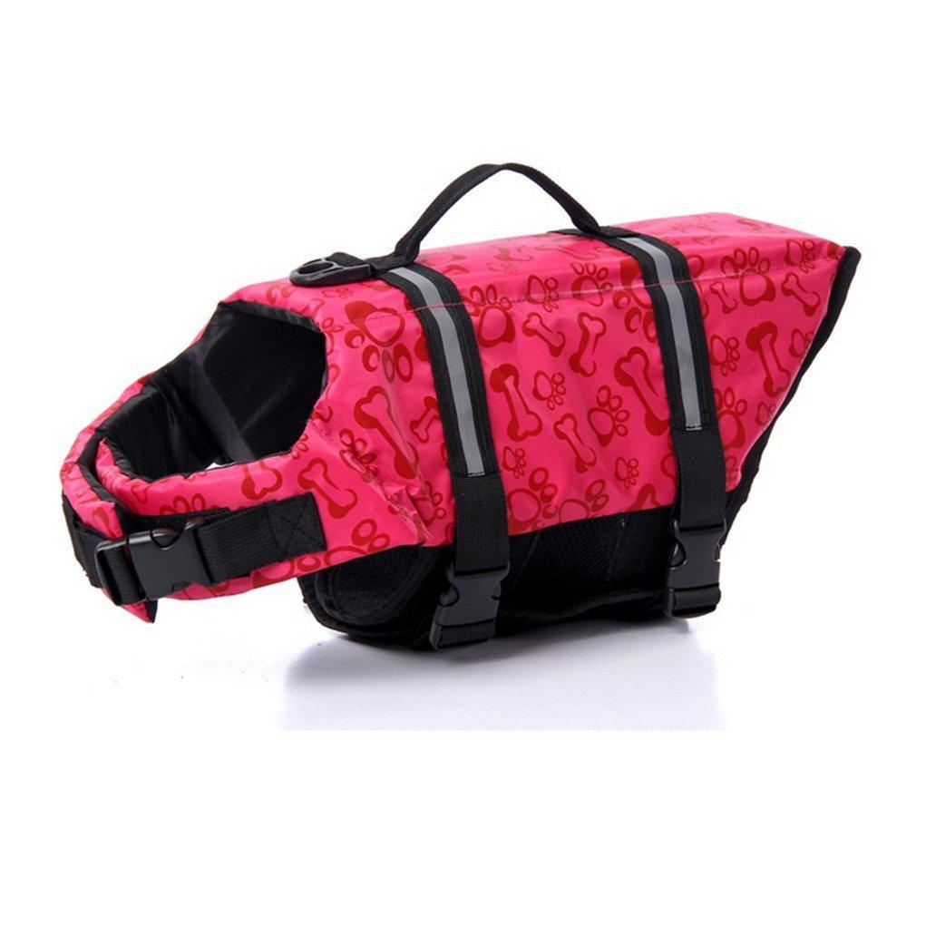 【即発送可能】 Doggy反射安全コート水泳ペットライフジャケットBoating Floatation Vestセーバー救命胴衣幅広いサイズ X-Large B075PG49Z5、ボーンパターン ピンク X-Large X-Large ピンク B075PG49Z5, オマケ des shoes and bag:855d2308 --- a0267596.xsph.ru